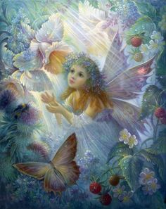 Garden fairies come at dawn,  Bless the flowers then they're gone.  ~Author Unknown