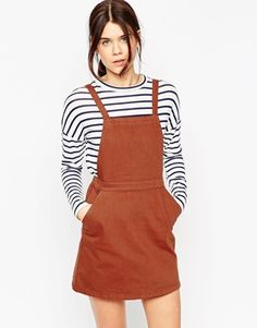 Discover pinafore dresses at ASOS. Shop our collection of overall dresses, from denim overalls with stylish plaid, corduroy and jersey pinafore dress styles. Denim Pinafore, Pinafore Dress, Women's Overall Dress, Square Neckline Dress, White A Line Dress, Dungaree Dress, Asos Dress, Models, Latest Fashion Clothes