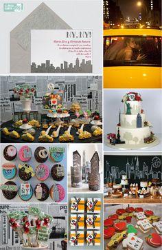 Invitaciones de boda, invitaciones para boda, ideas para bodas, NY, Bodas inspiradas en New York