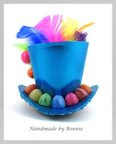 Gumdrops and Lollipops TIny Top Hat - Mini Top Hat - Colorful Rainbow