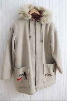Stunning vintage CanadianEskimo Innu wool parka Size M by Ritalulu