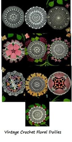 Crochet Vintage Floral Doilies Patterns - Crochet patterns (Amazon Link)