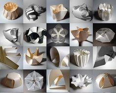 The beautiful folded forms in paper and polypropylene of designer-in-residence Richard Sweeney - Design Museum http://designmuseum.org/design/richard-sweeney