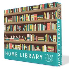 Home Library Puzzle – Daisy Shoppe - cute clothes & accessories Board Books For Babies, Long Pillow, Home Catalogue, Gifts For Readers, Home Libraries, Tin Candles, Book Lovers Gifts, Brighten Your Day, Puzzle Pieces