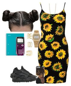 """"""""""" by taylordena ❤ liked on Polyvore featuring Motel, FOSSIL, NIKE, Charlotte Russe and American Apparel"""