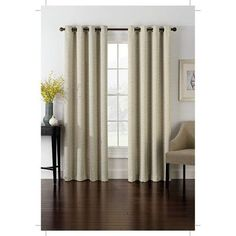 Richloom Home Fashions Insola Foray Blackout Single Curtain Panel Color Sand