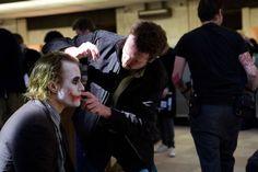 Batman The Joker Christian Bale Heath Ledger Batman The Dark Knight Christopher Nolan  / 1599x1066 Wallpaper