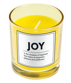 Joy Candle modern candles and candle holders Candels, Votive Candles, Scented Candles, Special Massage, Yellow Candles, Hm Home, Modern Candles, Candlemaking, Presents For Friends