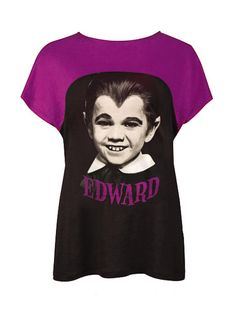 Mouse over image to zoom                                                                                    Have one to sell? Sell it yourself     Edward Munster The Munsters Photo Printed Two Tone Top