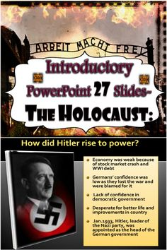 This is a 27 slide PowerPoint that introduces the Holocaust to students in an… 6th Grade Social Studies, Teaching Social Studies, Teaching History, Holocaust Unit, Middle School Ela, High School, 8th Grade English, Teacher Resources, Teaching Ideas
