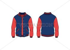 A Varsity Jacket is originally known as American Baseball Jacket. This is a detailed vector illustration of the Varsity Jacket and very easily editable with a Fashion Design Template, Flat Sketches, Business Card Logo, Fashion Flats, Sports Women, Motorcycle Jacket, Womens Fashion, Casual, How To Wear
