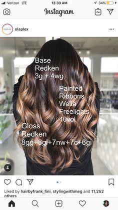 Beliage Hair, Glam Hair, Redkin Hair Color, Hair Color Formulas, Redken Color Formulas, Redken Hair Products, Balayage Ombré, Hair Color Techniques, Hair Highlights