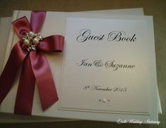 Luxury Personlised Wedding Guest Book with by QuillsWeddingFavours www.quillsweddingstationery.co.uk https://www.facebook.com/pages/Quills-Wedding-Stationery/278003989009997