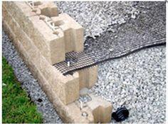 Pin Through Geogrid Interstice Retaining Wall Design Blocks Landscaping Walls
