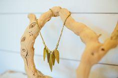 Multi-Leaf Necklace via Magnolia Market chip and Joanna Leaf Necklace, Short Necklace, Ring Necklace, Pendant Necklace, Drop Earrings, I Love Jewelry, Jewelry Necklaces, Jewelry Making, Joanna Gaines Style