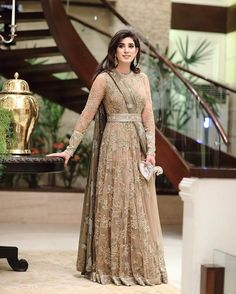 Wedding Party Outfits Receptions Bridal Shower 63 New Ideas Indian Wedding Gowns, Pakistani Wedding Dresses, Pakistani Dress Design, Pakistani Outfits, Shadi Dresses, Indian Gowns Dresses, Girls Dresses, Indian Designer Outfits, Designer Dresses