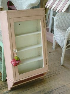 Antique Pink Medicine Cabinet Best Old Paint by SimplyCottageChic, $220.00