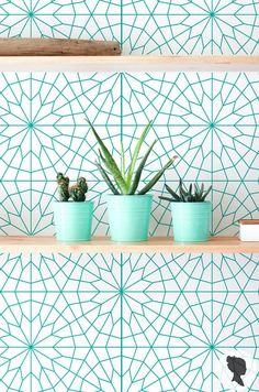 Geometric pattern wallpaper will add personalized charm to your interior in just a few minutes