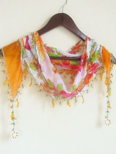 Traditional Turkish Oya  Scarfauthentic romanticelegant by asuhan, $19.90