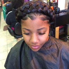 Beautiful Goddess Crown Braid