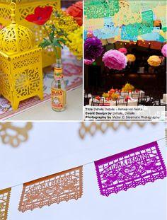 decorations, papel picado