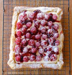 Rustic Raspberry Lemon Cheesecake Tartcountryliving