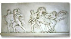 Warriors and Slaves Greek Wall Relief, parthenon wall frieze, greek art reproductions, garden greek art, classical wall frieze, greek museum...