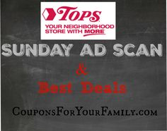 Tops Ad Scan Sunday Nov 1 is live plus best deals ending Saturday and starting Sunday!! : #GroceryStores, #Stores, #Tops Check it out here!!
