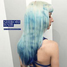 #tiedye #hair #coloured #long Tie Dye Hair, Dyed Hair, Shibori, Long Hair Styles, Spring, Strands, Beauty, Winter Time, Art