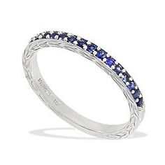 White Gold Maile Scroll Ring with Blue Sapphires - New From Na Hoku - Shop Black Gold Jewelry, Blue Sapphire Rings, Jewelry Rings, Jewellery, Ring Designs, Vintage Items, Pandora, White Gold, Wing Earrings