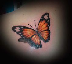 Monarch Butterfly Tattoo by Michelle Nordeen, Crimson Heart Designs