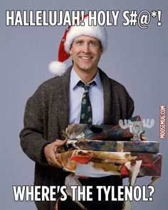 Hallelujah, holy shit!! Where's the tylenol?!  Christmas Vacation....a holiday staple.
