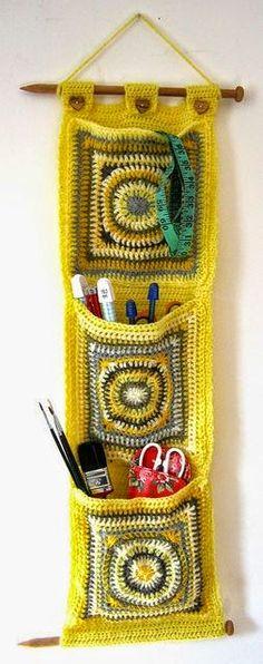 Idea para el hogar: porta objetos con grannys | Todo crochet