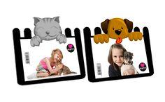 Porta-retrato Cachorro e porta-retrato gato
