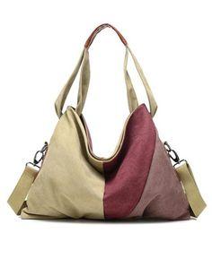 Vintage Canvas Shoulder Bag Fashion Messenger Crossbody Bag