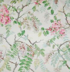 SCHUMACHER WISTERIA FLORAL Cotton Fabric by ExquisiteFabrics2015