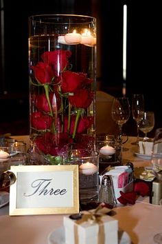submerged roses/ Love this idea