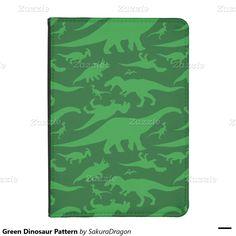 Green Dinosaur Pattern Kindle 4 Cover #dinosaur #apatosaurus #trex #raptors #pteranodon