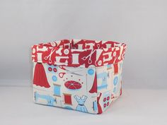 Cute Fabric Basket Made With Sewing Inspired Fabric