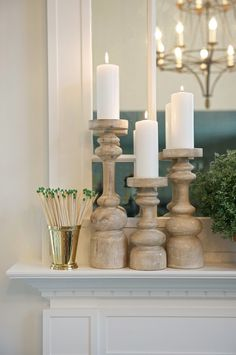 mint julep cup, match, holder, mantel styling,ideas candlestick holders