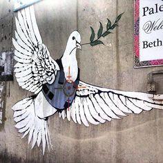 IN PALESTINE............PARTAGE OF BANKSY  NEWS..........ON FACEBOOK........