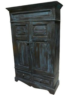 Antique INDIA Armoire Cabinet Blue Patina Hand Carved Indian Furniture 64x38x13 FREE SHIP by Mogulinterior, http://www.amazon.com/dp/B009DFF1JS/ref=cm_sw_r_pi_dp_9sH3qb0XP01RD