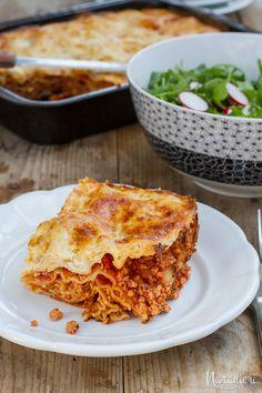 Lasagne s paradajkovo-mäsovou omáčkou