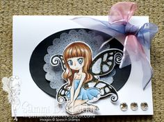Card made by Sammi Betbeder using Dark Fairy Digital Stamp by Max for Spesch Designer Stamps