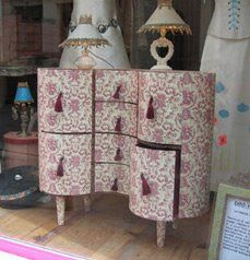 Cardboard furniture.  My favourite cartonniste, @www.catherinecarton.fr