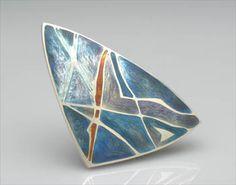 Sarah Letts - Brooch Silver, champlevé enamel