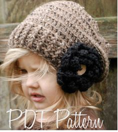 Crochet PATTERNThe Nadiya Slouchy Toddler Child by Thevelvetacorn, $5.50