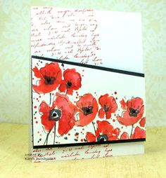 Love the watercoloured poppies from Rubbernecker stamps. Watercoloured Poppies by k dunbrook - Cards and Paper Crafts at Splitcoaststampers Watercolor Poppies, Watercolor Cards, Watercolour Art, Poppy Cards, Penny Black Stamps, Cool Cards, Flower Cards, Stampin Up Cards, Making Ideas