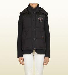 #gift Gucci smanicato nero in piumino d'oca collezione equestrian nero