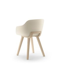 Kuskoa Bi chair is a 100% bioplastic chair made by Jean Louis Iratzoki for Alki.